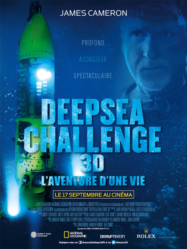 [National Geographic] Deepsea Challenge 3D : L'Aventure d'une Vie (17 septembre 2014) Deepseachallenge3daffiche1