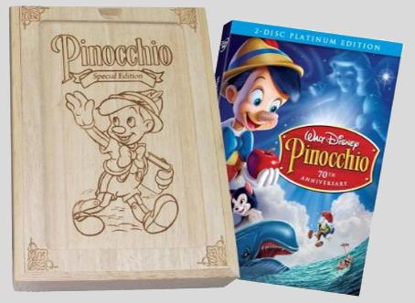 Pinocchio en DVD Collector (11 mars 2009) Pinocchiodvdbox